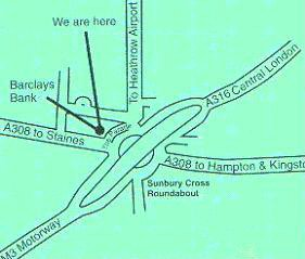Map to our offices
